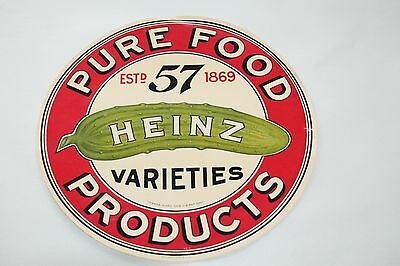 Vintage Original Paper Label Pure Food Products Heinz advertising 11''