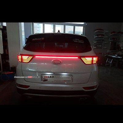 LED Back door Garnish Molding Lamp Lights DIY KITS For Kia Sportage QL 2017+