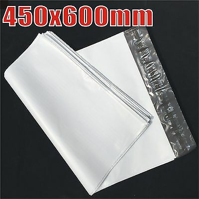 100x 450x600mm Plastic Satchel Courier Poly Mailer -Self Sealing Shipping Bag
