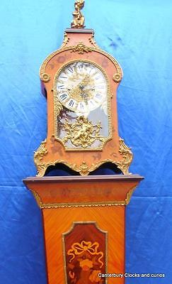 Tiffany Vintage Ormolu Boulle Type Walnut 8 Day Bracket Pedistal Mantle Clock