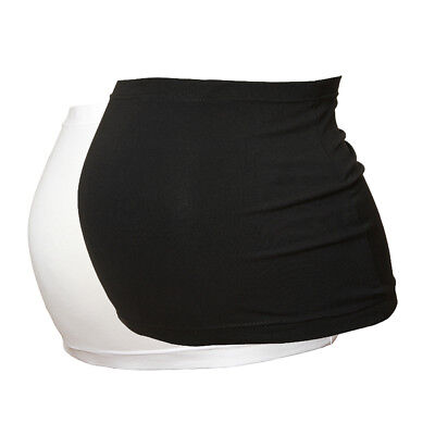 Plus Size Maternity Belly Band/Bump Band by Harry Duley. 2 Pack. Black & White.