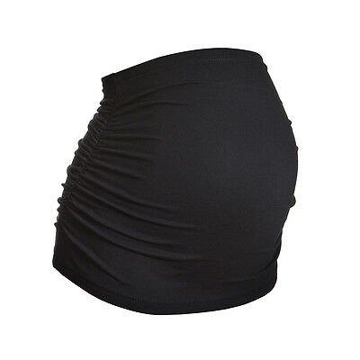 Plus Size Ruched Maternity Belly/Bump Band by Harry Duley - Black - Sizes 20-28