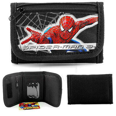 DC Comics Batman VS Superman Super Hero Kids Tri-Fold Wallet - Black