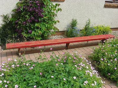 Vintage School Gymnasium / Gym Bench 11Foot Long Hall Seating Outdoor Etc