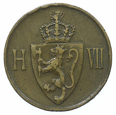 Norway, 5 Ore, Norge, 1907