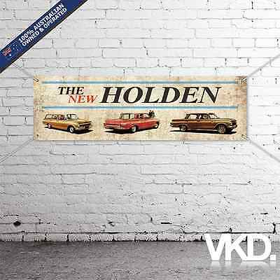 Vintage Look Holden Banner - Man Cave Work Garage Shed Sticker Ute EJ Nasco Old