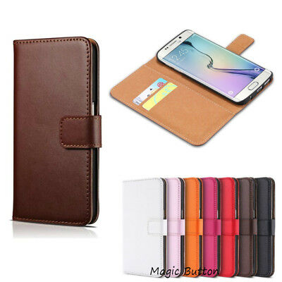 For Samsung Galaxy S5 Wallet Case Genuine Real Leather Flip Card Slot Cover
