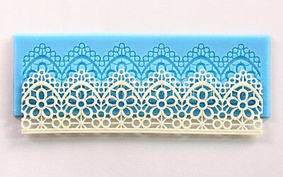 FLOWER LACE Silicone Fondant Icing Mould Wedding Cake Decoration Tool Mold
