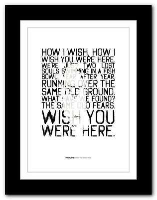 PINK FLOYD Wish You Were Here ❤ SYD BARRETT typography poster art print #57