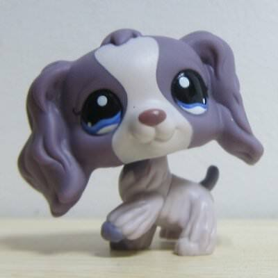 Hasbro Littlest Pet Shop Collection LPS Figure Toy Super RARE Gray Cocker Dog