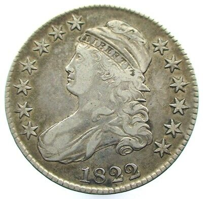 1822 USA Capped Bust Half Dollar Overton 104 -  R3 Coin