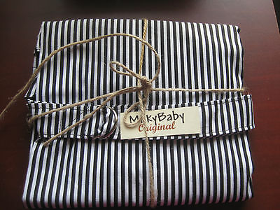 NEW  >NURSING COVER  Hider Breastfeeding Cover Cool Stripe B W