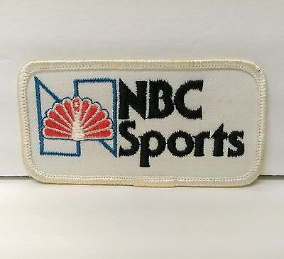 """Vintage 1980's NBC Sports network television Peacock logo 4""""  sew-on patch"""