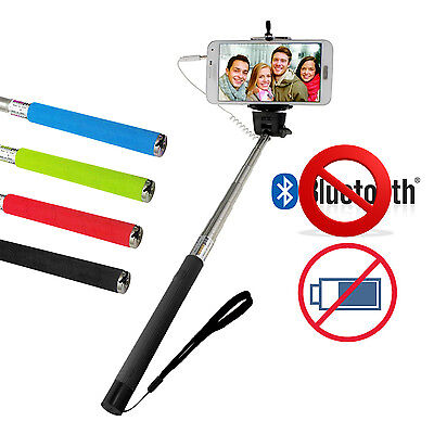 Selfie Stick Monopod Telescopic Wired Remote Mobile Phone holder Selfie Stick
