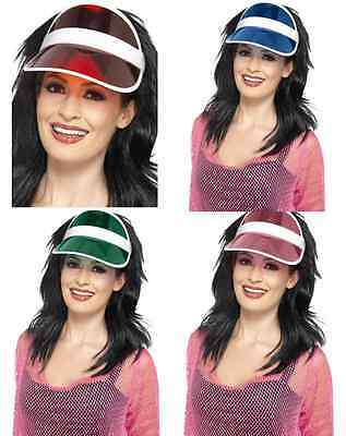 9c3d32a94ef 80 s 80S Color Clear Poker Golf Pub Rave Sun Visor Fun Costume Vegas Cap Hat