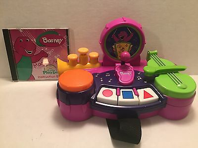 Barney Magical Music Computer CD ROM Playset Instruction Book Instrument Band