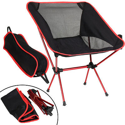 Portable Chair Folding Beach Seat Stool Fishing Camping Hiking Barbecue w/ Pouch