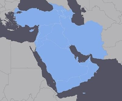 Middle East GPS map 2016 for Garmin devices