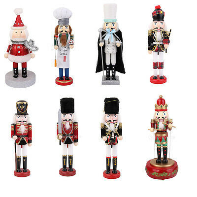 Traditional Wooden Nutcracker Toy Solider Santa Claus Christmas Gift Decoration