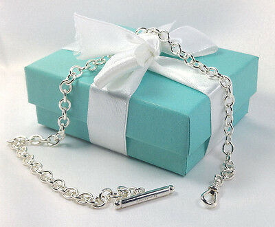 "NEW Tiffany & Co. Pocket Watch Chain 14.5"" Inch Sterling Silver 925"