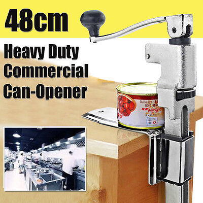 Commercial Heavy Duty Can Opener Large Counter Bench Top Mount Steel Table Home