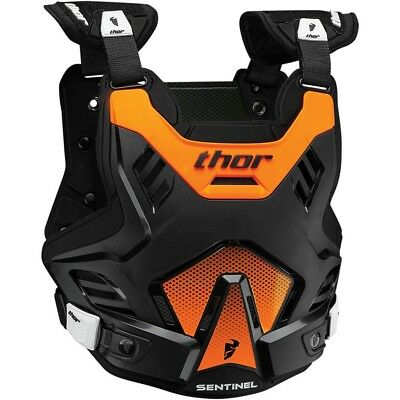 Thor MX NEW Sentinel GP Roost Chest Protector Black Orange Body Armour - M/L
