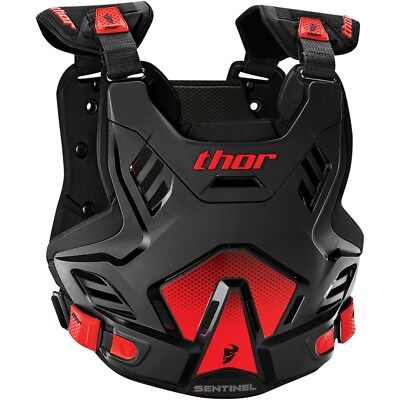 Thor MX Kids NEW Sentinel GP Roost Chest Protector Black Red Youth Body Armour