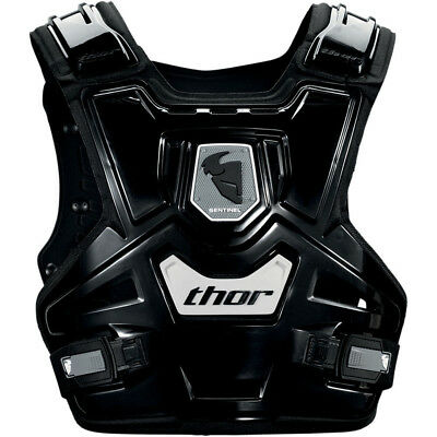 Thor MX NEW Kids Sentinel CE Certified Black Motorcross Youth Chest Protector