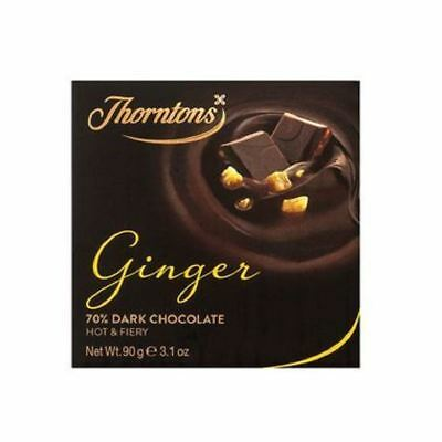 Thorntons 70% Dark Ginger Chocolate Block (90g)
