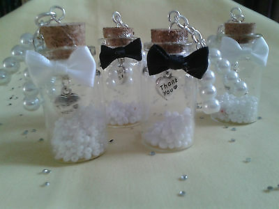 Message in a Bottle Thank You Wedding Favour/ gift  Different Colours available