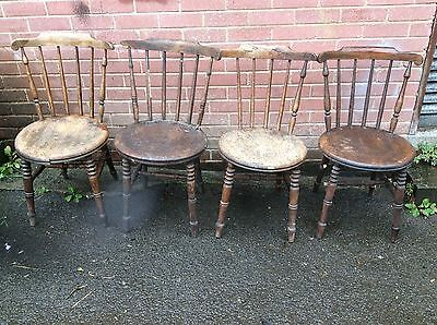 Set 4 Antique Penny Farmhouse Chairs (Swedish Ibex Chairs) For Total Restoration