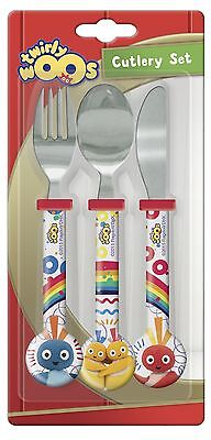 Twirlywoos | Bighoo | 3pc Mealtime Cutlery Set includes Knife, Fork & Spoon