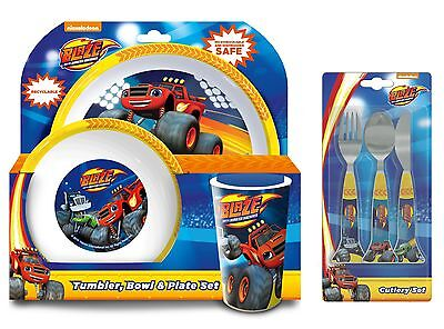 Blaze and the Monster Machines 6pc Tumbler Bowl, Plate Set & Cutlery | Mealtime