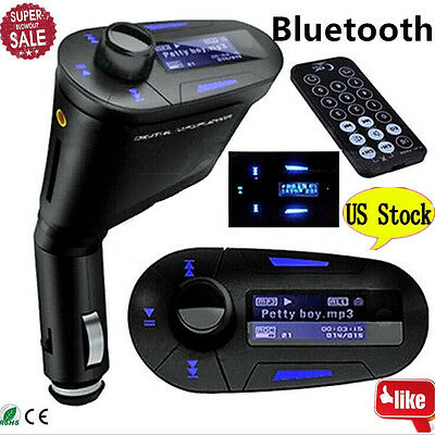 Protable Wireless Bluetooth Car Kit MP3 Player FM Transmitter LCD USB Charger OB