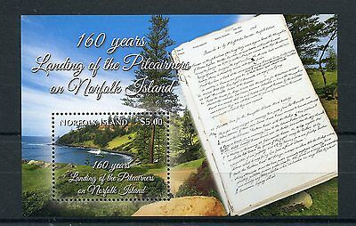 Norfolk Island 2016 MNH 160 Years Landing of Pitcairners 1v S/S Trees Stamps