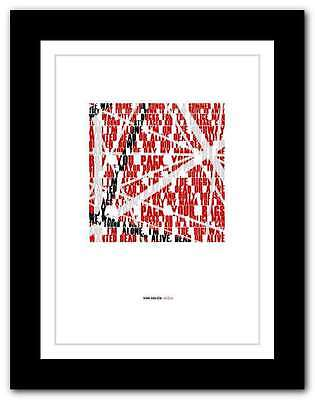 ❤ VAN HALEN - D.O.A. ❤ typography quote poster art limited edition print #83