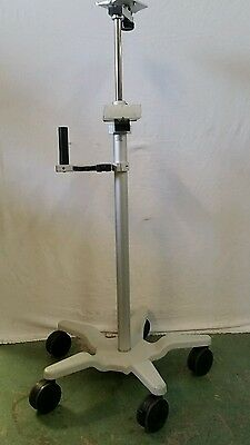 Medical VHRS Variable Height Rolling Stand Patient BP Vital Signs Monitor Cart