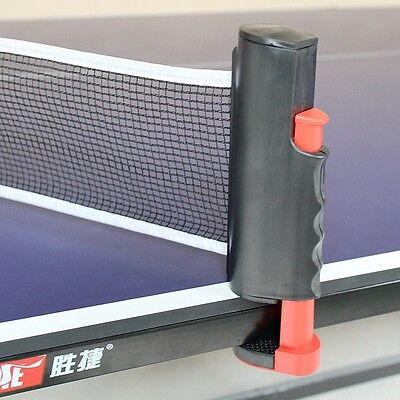 IndoorSpotr Portable Retractable Table Tennis Net Rack Replacement Ping Pong Set
