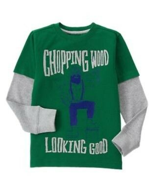 GYMBOREE KING OF COOL NAVY w// GREEN RACE CAR L//S TEE 4 5 6 10 NWT