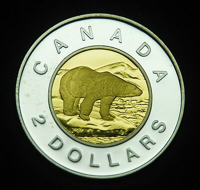 "2000 Canadian proof ""toonie"" that is BU.  Gorgeous coin"