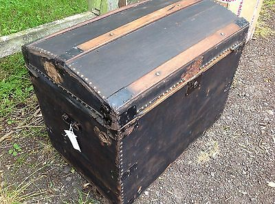 Antique Travel Trunk Steamer Chest