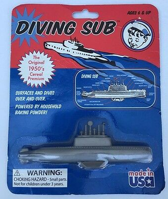 ~New~ 1950 Diving Sub Submarine Toy Made Usa Vtg Baking Soda Collectors Retro