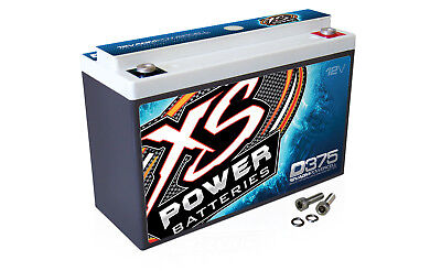XS Power D375 12 Volt AGM 800 Amp Sealed Car Audio Battery/Power Cell+Terminals