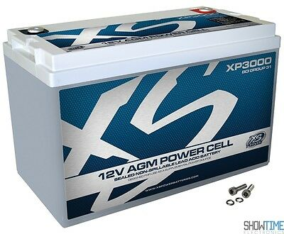 New XS Power XP3000 12V 3000 Amp Deep Cycle AGM Car Audio Battery/Power Cell