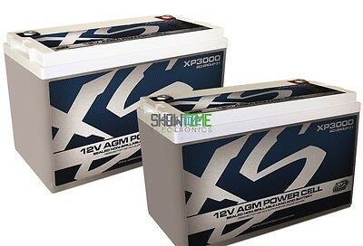 TWO XS Power XP3000 12V 3000 Amp Deep Cycle AGM Car Audio Batteries/Power Cells