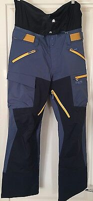 Bergans of Norway Hafslo Lady Ski Pants Blue Size S + Built in Rescue Technology