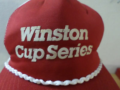 1980s Winston Cup Nascar Racing Rope Hat Cap Mesh Snapback Trucker Made In USA
