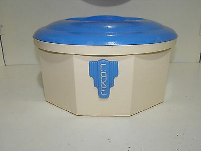 Retro Iplex Blue & Cream 50s Bakelite Cake Canister Stylish And Deco