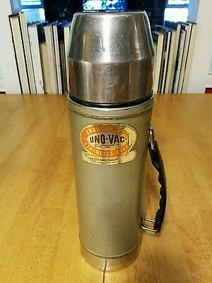 VINTAGE Uno-Vac THERMOS/ #270 978 STAINLESS STEEL/UNBREAKABLE