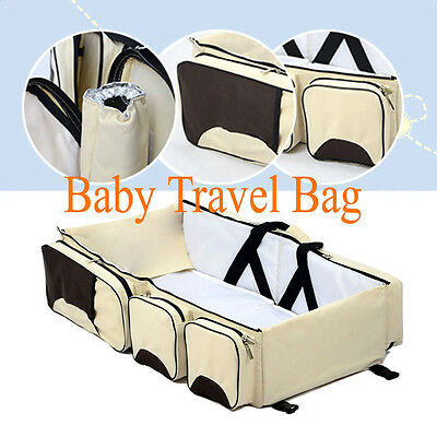 3in1 Foldable Baby Travel Bag Bed Infant Crib Portable Diaper Changing Bassinet